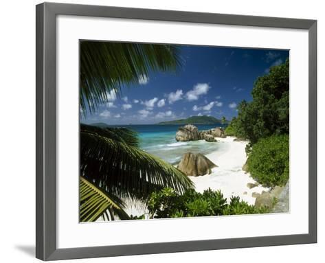 Tropical Beach Scene, Anse Patates, La Digue, Seychelles-Lee Frost-Framed Art Print