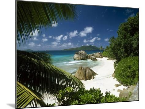 Tropical Beach Scene, Anse Patates, La Digue, Seychelles-Lee Frost-Mounted Photographic Print