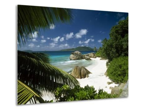 Tropical Beach Scene, Anse Patates, La Digue, Seychelles-Lee Frost-Metal Print