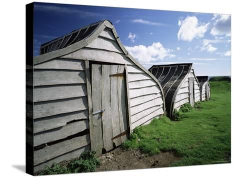 Fishermen's Huts, Lindisfarne, Holy Island, Northumberland, England, United Kingdom, Europe-Lee Frost-Stretched Canvas Print