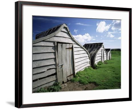 Fishermen's Huts, Lindisfarne, Holy Island, Northumberland, England, United Kingdom, Europe-Lee Frost-Framed Art Print