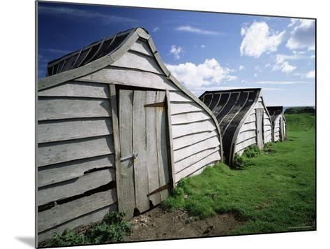 Fishermen's Huts, Lindisfarne, Holy Island, Northumberland, England, United Kingdom, Europe-Lee Frost-Mounted Photographic Print
