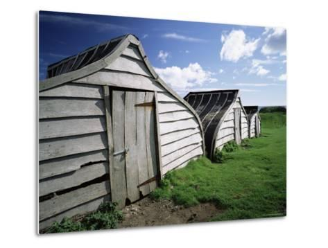Fishermen's Huts, Lindisfarne, Holy Island, Northumberland, England, United Kingdom, Europe-Lee Frost-Metal Print