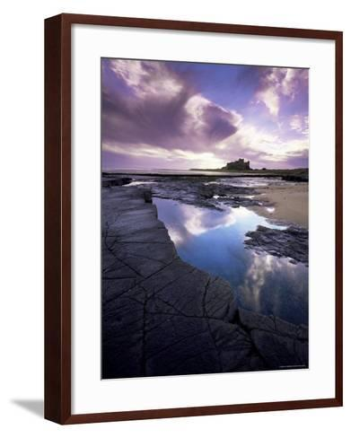 Bamburgh Castle at Dawn, Northumberland, England, United Kingdom, Europe-Lee Frost-Framed Art Print