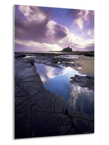 Bamburgh Castle at Dawn, Northumberland, England, United Kingdom, Europe-Lee Frost-Metal Print