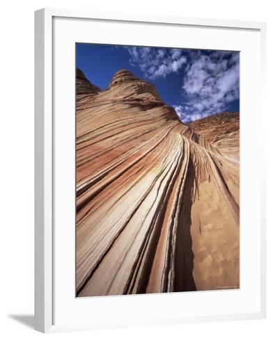 Sandstone Wave, Paria Canyon, Vermillion Cliffs Wilderness, Arizona, USA-Lee Frost-Framed Art Print