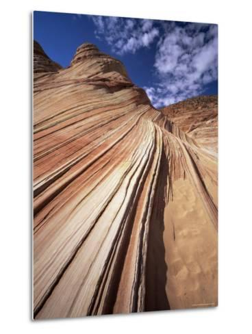Sandstone Wave, Paria Canyon, Vermillion Cliffs Wilderness, Arizona, USA-Lee Frost-Metal Print