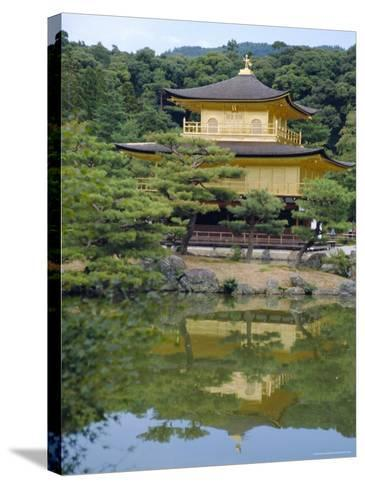 Temple of the Golden Pavilion, Kyoto, Japan-David Poole-Stretched Canvas Print