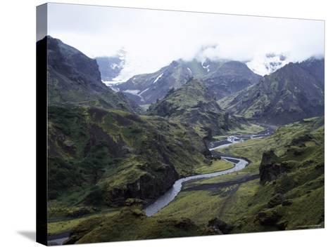 Porsmork Valley, Iceland, Polar Regions-David Poole-Stretched Canvas Print