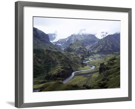 Porsmork Valley, Iceland, Polar Regions-David Poole-Framed Art Print