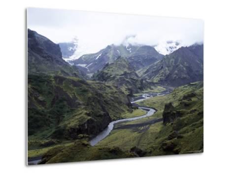 Porsmork Valley, Iceland, Polar Regions-David Poole-Metal Print