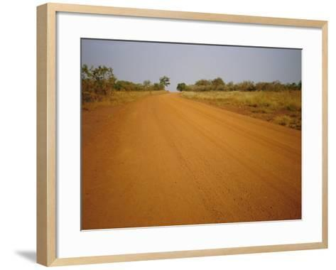 The Main Road from Cameroun to the Capital Bangui, Central African Republic, Africa-David Poole-Framed Art Print