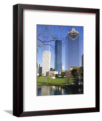 Skyscrapers, Houston, Texas, USA-Charles Bowman-Framed Art Print