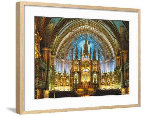 Interior, Basilica of Notre Dame, Montreal, Quebec Province, Canada-Charles Bowman-Framed Art Print