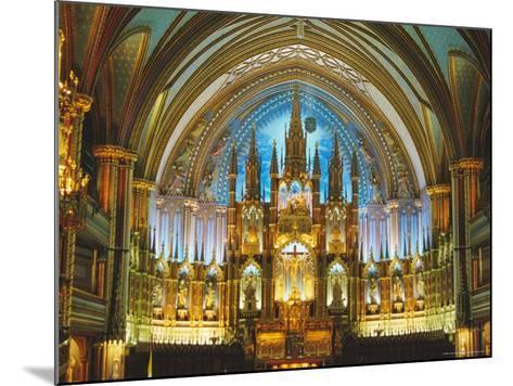 Interior, Basilica of Notre Dame, Montreal, Quebec Province, Canada-Charles Bowman-Mounted Photographic Print