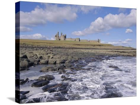 Dunstanburgh Castle and the Coast, Northumbria (Northumberland), England, UK, Europe-Charles Bowman-Stretched Canvas Print