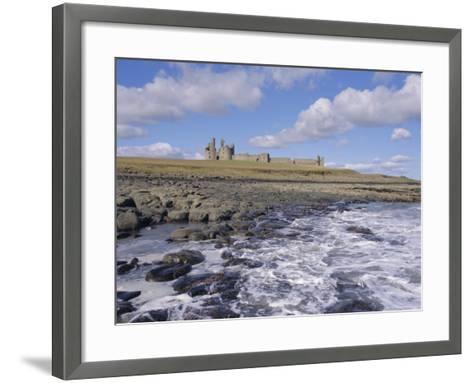 Dunstanburgh Castle and the Coast, Northumbria (Northumberland), England, UK, Europe-Charles Bowman-Framed Art Print
