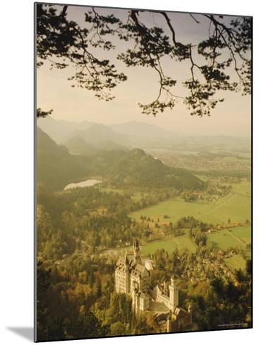 Neuschwanstein Castle, Bavaria, Germany, Europe-Charles Bowman-Mounted Photographic Print