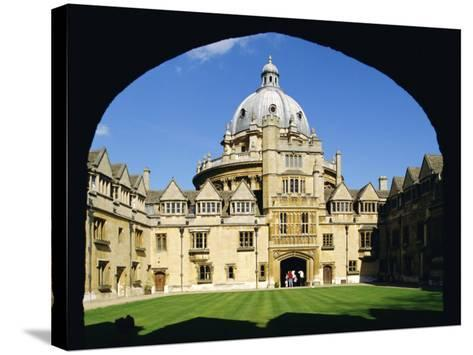 Brasenose College, Oxford University, Oxford, Oxfordshire, England, UK, Europe-Charles Bowman-Stretched Canvas Print