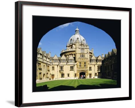 Brasenose College, Oxford University, Oxford, Oxfordshire, England, UK, Europe-Charles Bowman-Framed Art Print
