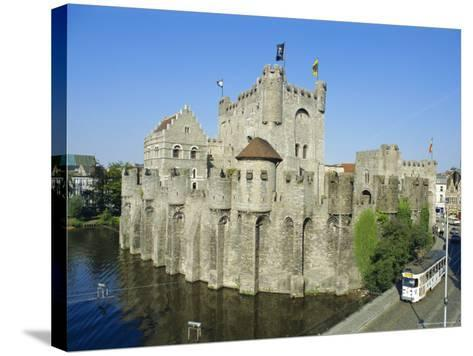 Castle, Ghent, Belgium-Charles Bowman-Stretched Canvas Print