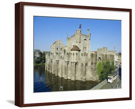 Castle, Ghent, Belgium-Charles Bowman-Framed Art Print