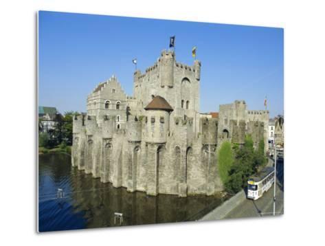 Castle, Ghent, Belgium-Charles Bowman-Metal Print