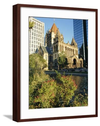 Trinity Church and Hancock Tower, Boston, Massachusetts, New England, USA-Charles Bowman-Framed Art Print