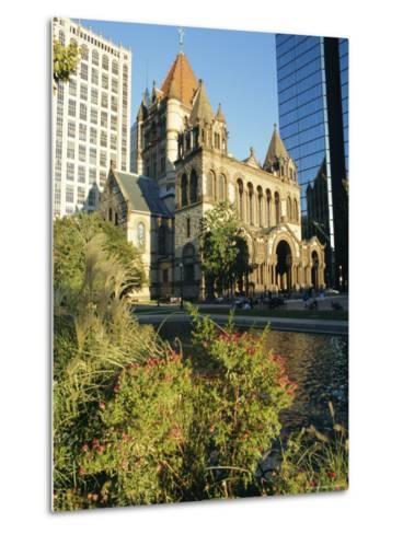 Trinity Church and Hancock Tower, Boston, Massachusetts, New England, USA-Charles Bowman-Metal Print
