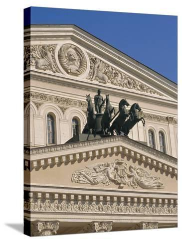 The Bolshoi Theater, Moscow, Russia-Charles Bowman-Stretched Canvas Print