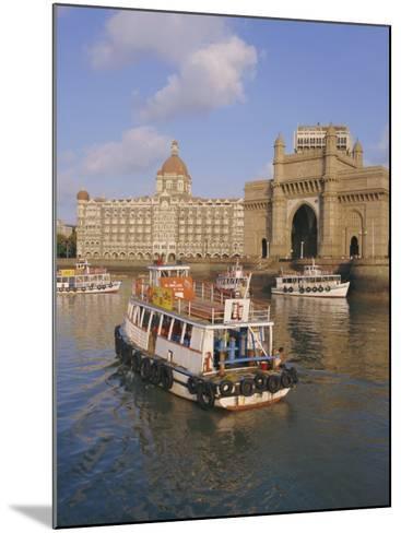 The Gateway to India and the Taj Mahal Hotel, Mumbai (Bombay), India-Charles Bowman-Mounted Photographic Print