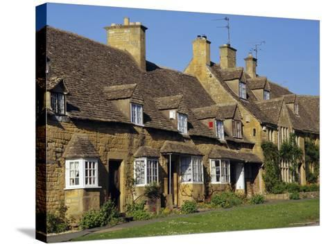Elizabethan Cottages, Broadway, the Cotswolds, Hereford & Worcester, England, UK, Europe-Charles Bowman-Stretched Canvas Print