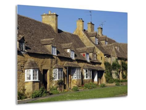 Elizabethan Cottages, Broadway, the Cotswolds, Hereford & Worcester, England, UK, Europe-Charles Bowman-Metal Print