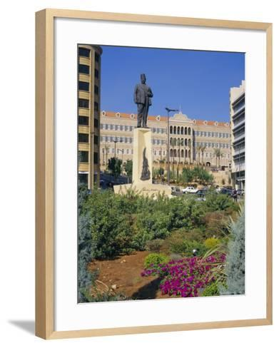 Parliament, Grand Serail, Beirut, Lebanon, Middle East, North Africa-Charles Bowman-Framed Art Print