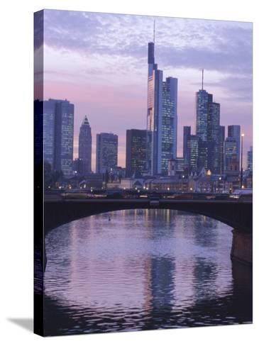 Frankfurt-Am-Main Skyline, Hessen, Germany, Europe-Charles Bowman-Stretched Canvas Print