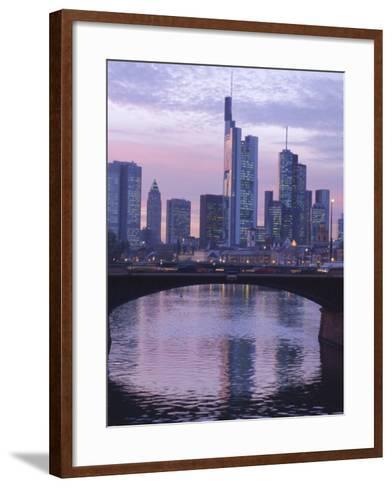 Frankfurt-Am-Main Skyline, Hessen, Germany, Europe-Charles Bowman-Framed Art Print