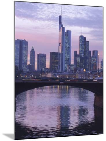 Frankfurt-Am-Main Skyline, Hessen, Germany, Europe-Charles Bowman-Mounted Photographic Print