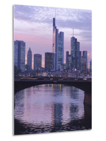 Frankfurt-Am-Main Skyline, Hessen, Germany, Europe-Charles Bowman-Metal Print