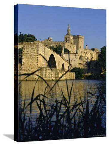 The River Rhone at Avignon, Provence, France-Charles Bowman-Stretched Canvas Print