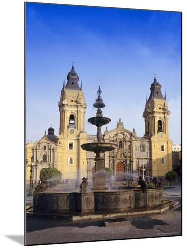 Fountain in Front of the Cathedral in Lima, Peru, South America-Charles Bowman-Mounted Photographic Print