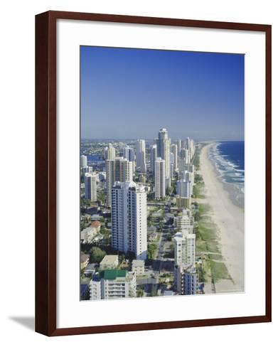 Aerial View of Surfers Paradise, the Gold Coast, Queensland, Australia-Adina Tovy-Framed Art Print