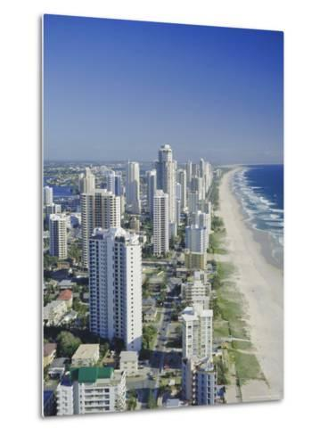 Aerial View of Surfers Paradise, the Gold Coast, Queensland, Australia-Adina Tovy-Metal Print