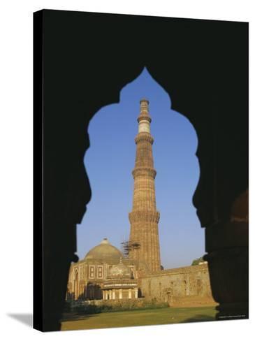 Qutb Minar, Delhi, India, Asia-Adina Tovy-Stretched Canvas Print