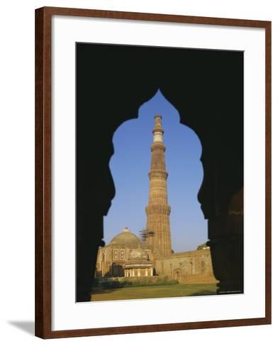 Qutb Minar, Delhi, India, Asia-Adina Tovy-Framed Art Print