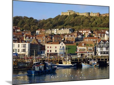 Scarborough, Harbour and Seaside Resort with Castle on the Hill, Yorkshire, England-Adina Tovy-Mounted Photographic Print
