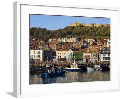 Scarborough, Harbour and Seaside Resort with Castle on the Hill, Yorkshire, England-Adina Tovy-Framed Art Print