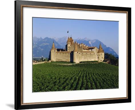 Aigle Chateau and Vineyard, Near Lac Leman, Switzerland-Adina Tovy-Framed Art Print