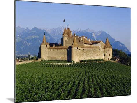 Aigle Chateau and Vineyard, Near Lac Leman, Switzerland-Adina Tovy-Mounted Photographic Print