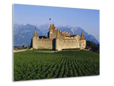 Aigle Chateau and Vineyard, Near Lac Leman, Switzerland-Adina Tovy-Metal Print