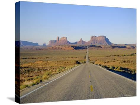 Road to Monument Valley, Navajo Reserve, Utah, USA-Adina Tovy-Stretched Canvas Print